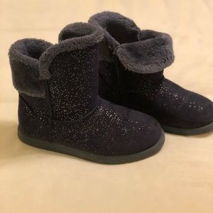 Other - Blue sparkle slip on boots